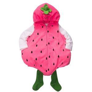 EUC Strawberry Costume 3-piece set 24 months